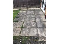 Free patio paving slabs (need to be removed)