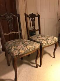 Pair of quality vintage wooden chairs