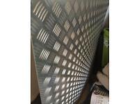 Aluminium checker plated sheets- job lot