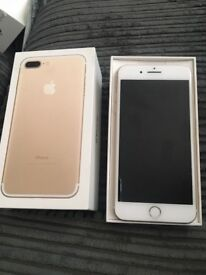 iPhone 7plus gold , 32gb immaculate condition always had a case on . EE network