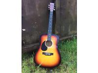 Martin Smith LEFT HANDED Acoustic Guitar & Gig Bag