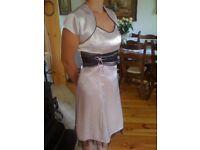Stunning Shinny Dress with Bolero Size M