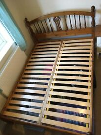 Solid Pine Double Bed Frame in Great Condition