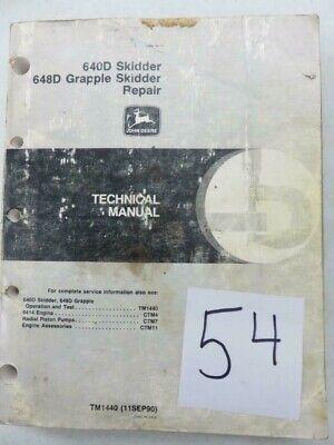John Deere 640d Skidder 648d Grapple Skidder Repair Manual
