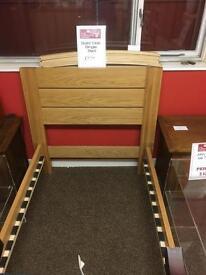 Solid oak single bed frame * free furniture delivery*