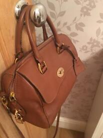Ladies Tan Brown Del Ray style handbag