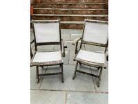 Garden chairs, hardwood
