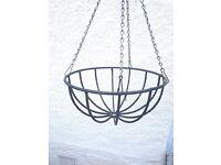 """18"""" Wrought iron hanging basket"""