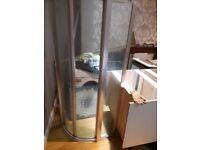 Niagara shower enclosure doors + ceramic base