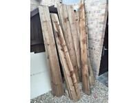 Fencing arris rails 4x4 posts feather edge panels