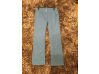 Ladies turquoise blue jeans by cotton traders size 14
