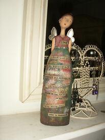Large Kelly Rae Roberts Demdaco LOVE angel figurine / ornament