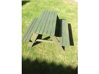 Children's garden bench.
