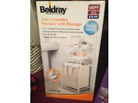 2 in 1 laundry hamper with storage