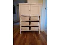 Bathroom chest of drawers white wicker cabinet