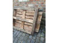 FREE. 2 large wooden pallets.