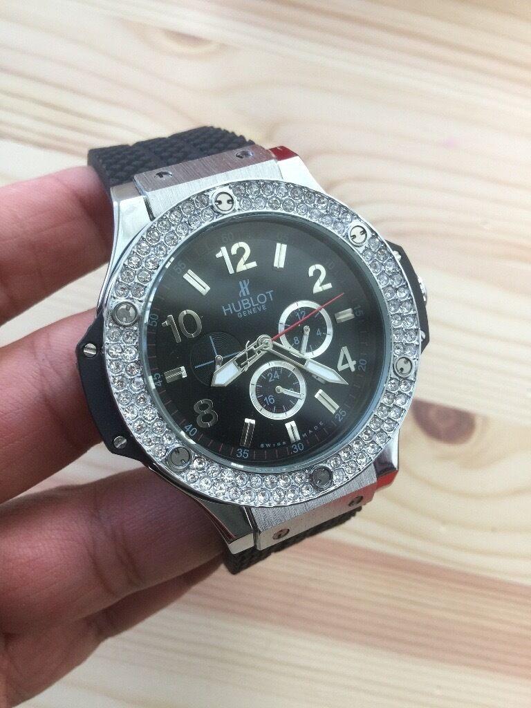 Stainless diamond hublot watch