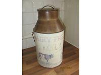 old fashioned milk churn replica