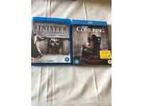 Set of Blu Rays - Sinister and Conjuring