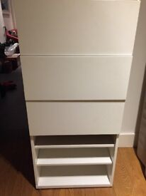 Chest of drawer and shelves