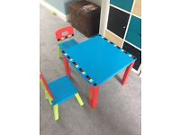 Children's ELC table and 2 chairs