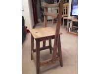 Antique adjustable unusual chair
