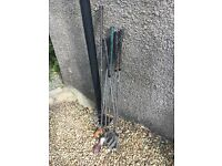 Various old golf clubs, vintage