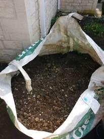 Half ton bag soil