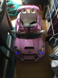 Ride on pink electric car 6v