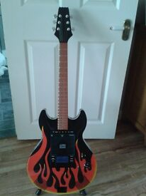 Novelty guitar radio, cd player ipod docking station