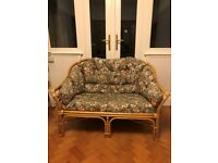 WICKER SOFA AND CHAIR SET - CONSERVATORY AND PATIO