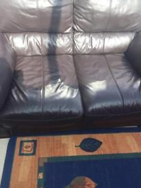 2 seater leather sofa barker and stone house