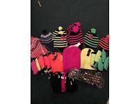 Brand new 56 item job lot, hats, gloves, leg warmers, suspenders