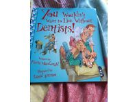 Children story book Dentist and dinosaur book