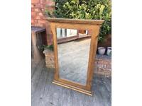 Oak Furniture Land solid oak mirror, bargain free delivery