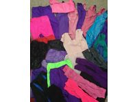 Large selection of size 1,2,3 and small 36 dancewear with size 4 tap shoes