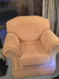 Sofas x 2 and 1 chair good condition