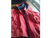 LADIES SMALL RED TRESPASS JACKET. BREATHABLE , WATERPROOF. FLEECE LINED