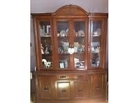 Dining Room table, 6 chaired and display unit.