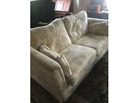 Neutral Floral Large 3 Seat Sofa