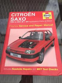 Haynes Citroen Saxo 1996 to 2004 service and repair manual