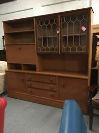 ** LARGE TEAK DISPLAY UNIT / CABINET / DRESSER **