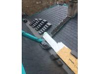 Roofer.Repair of leaks in roofs