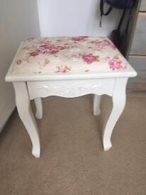 Pretty Floral Stool French Style