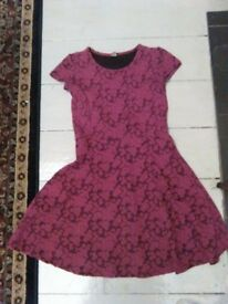 Girls dress 11yrs cerise pink flowers all over, beautiful from Sainsburys made in Uk!