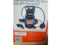 Draper 750w submersible dirty water pump with float