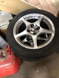 """Toyota 4x100 alloy wheels 15"""""""