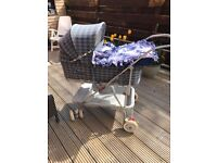 Antique silver cross pram * free delivery in glasgow