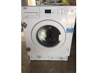 Integrated Washing Machine Beko white only 14 months old
