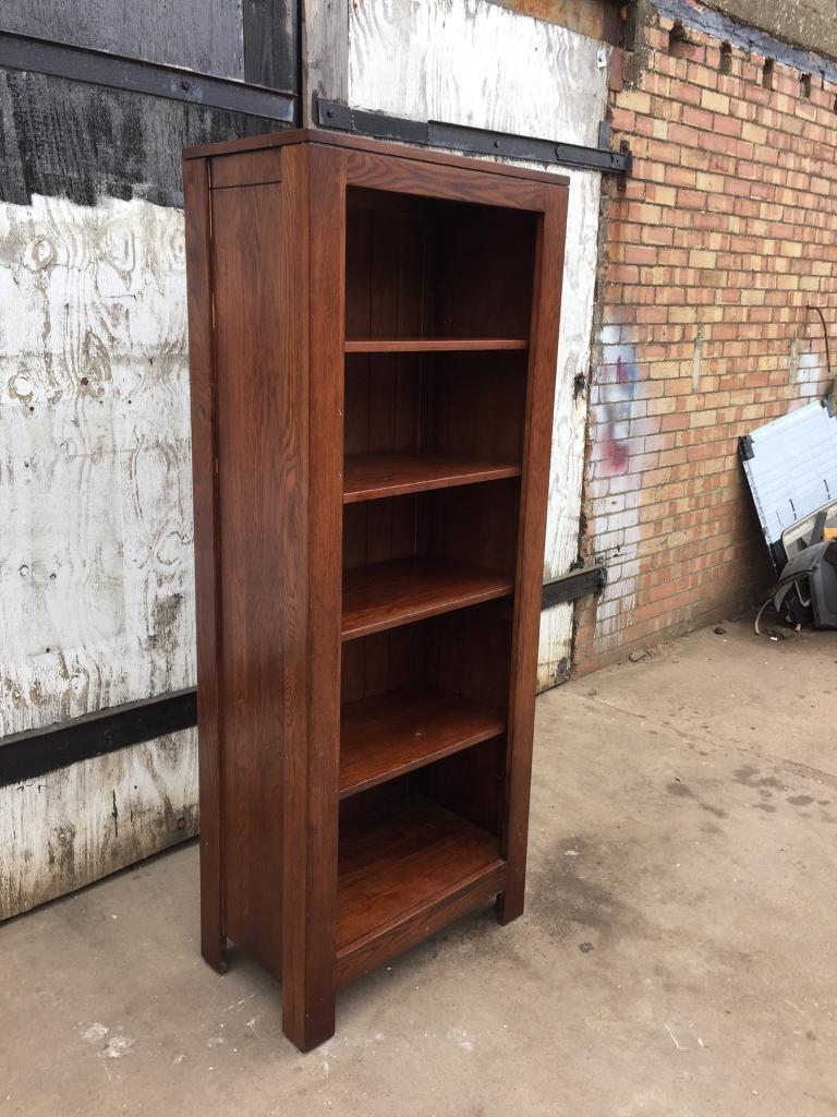 Milano Nero Chunky Solid Oak Furniture Tall Narrow Large